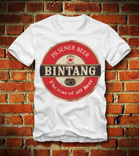 T SHIRT BINTANG BEER PILSENER INDONESIA JAKARTA NATIONAL RETRO LOOKCool Casual pride Unisex Fashion tshirt free shipping(China)