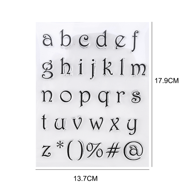 Stamps for cakes and cookies. A set of letters 6
