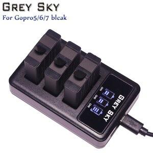 Image 5 - 1600mAh Go pro Hero 5 batterie + LED USB 3 ports chargeur Type C Port pour GoPro 5 Hero5 hero 6 7 hero6 4K hero7 accessoires de caméra