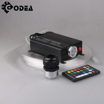 GODEA 16W RGBW 16 Color Changing LED Optic Lights Star Ceiling Kit Light 150pcs 0.75mm 2M End Glow Optical Fiber Engine Lighting