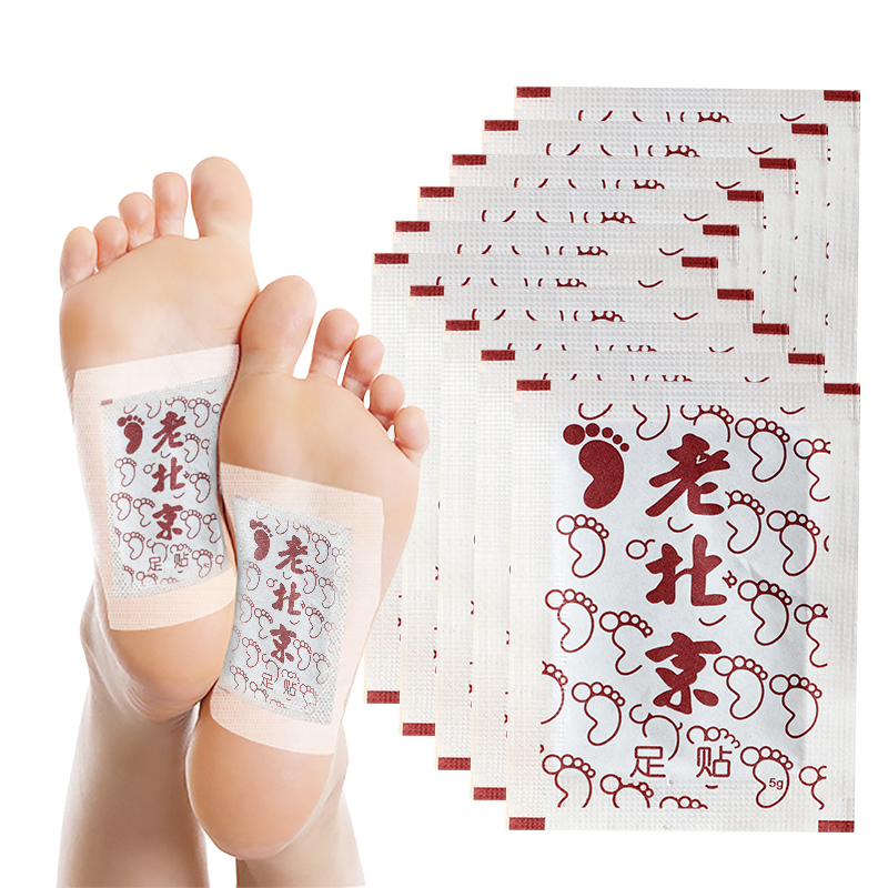 LAMILEE Artemisia Argyi Detox Foot Patches Pads Toxins Feet Slimming Cleansing Herbal Body Health Adhesive Pads 10Pcs Bulk