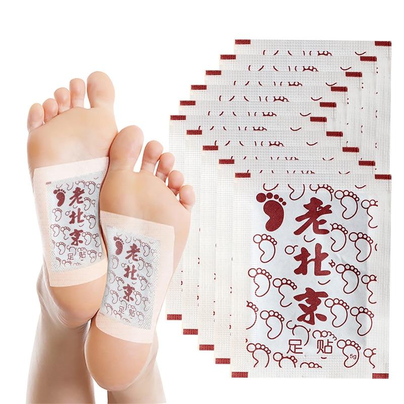 LAMILEE Artemisia Argyi Detox Foot Patches Pads Toxins Feet Slimming Cleansing Herbal Body Health Adhesive Pads 10Pcs Bulk