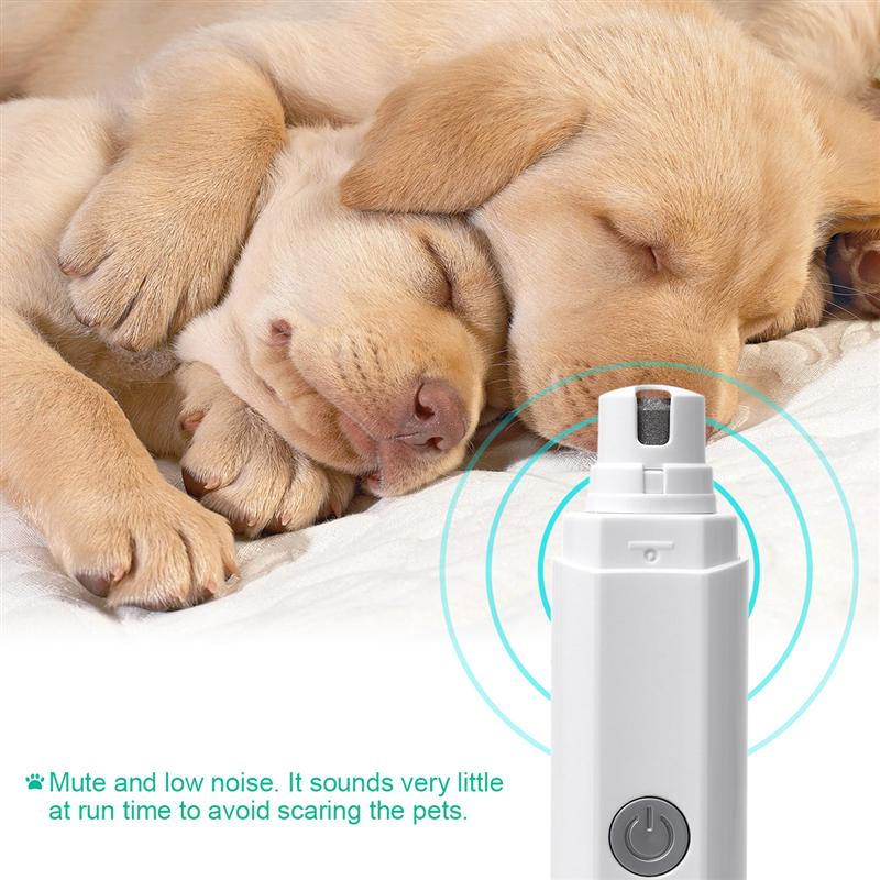 Electric Pet Nail Grinder With Rechargeable Lithium Battery Painless Grooming Trimmer For Dog Cat Rabbit Pets Of All Sizes