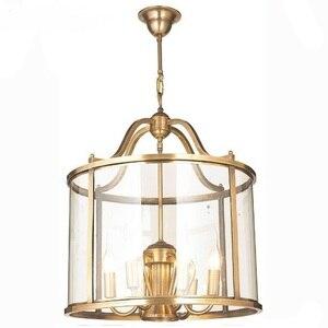 Image 3 - Американский подвесной светильник, лестница, европейский стиль, коридор, домашний сад, бронза, карнавал, подвесной светильник, птичья клетка, вилла, клуб, лампа LO7309