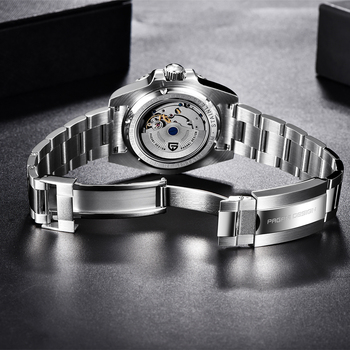 PAGANI DESIGN New Luxury Men Mechanical Wristwatch Stainless Steel GMT Watch Top Brand Sapphire Glass Men Watches reloj hombre 5