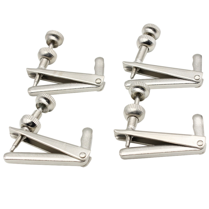 4 Pcs 3/4-4/4 Silver Cello Fine Tuner Fiddle String Adjuster Accessories Parts Free Shipping