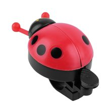цена на Lovely Kid Beetle Ladybug Ring Bell For Cycling Bicycle Bike Ride Horn Alarm free shipping