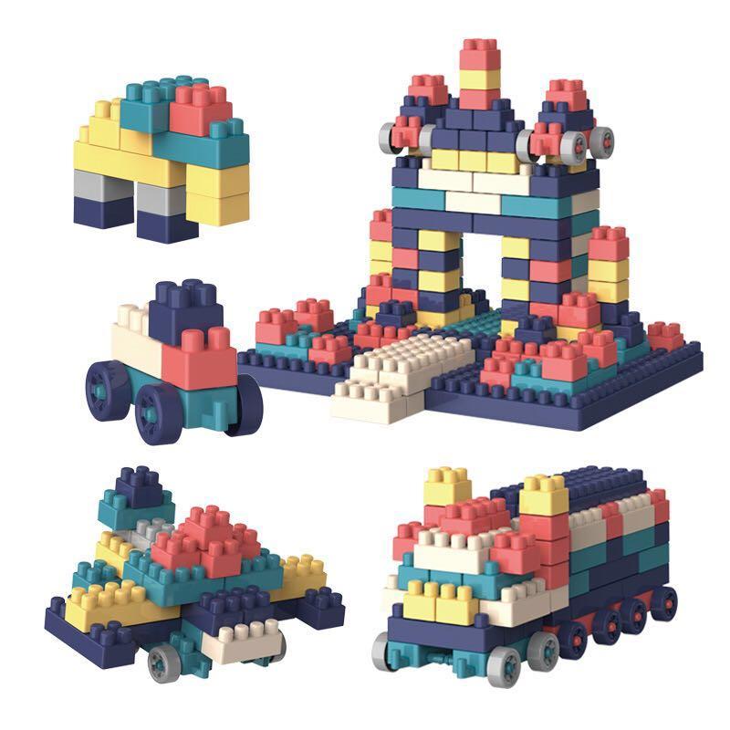 100PCS Action Figure Kids DIY Toy Assemble Building Blocks Bricks Toys Puzzle Spell Plug Enlighten Bricks Children Block Toys