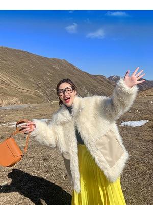 2020 New Style High-end Fashion Women Faux Fur Coat C28