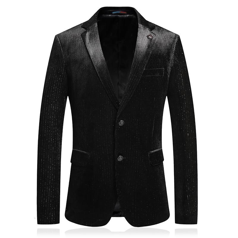 Terno Social Masculino Black Blazers Mens Blazers Mens Luxury Blazer Masculino Chaqueta Hombre Formal Americana Hombre Elegant
