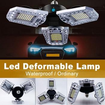 цена на UFO LED Lamp E27 LED Bulb 60W 80W 100W High Bay Light 220V E26 Garage Light LED Deformable Lamp Factory Industrial Lighting 110V