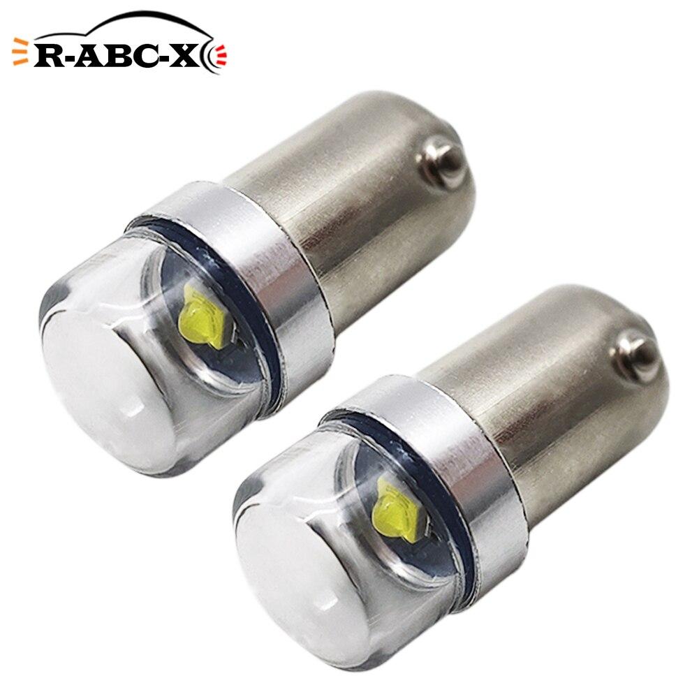 RUIANDSION 2 pièces CREE BA9S T4W moto Mini indicateur lumières ampoule moto panneau lampes 6V-30V 12V 24V blanc 6000K 150Lm