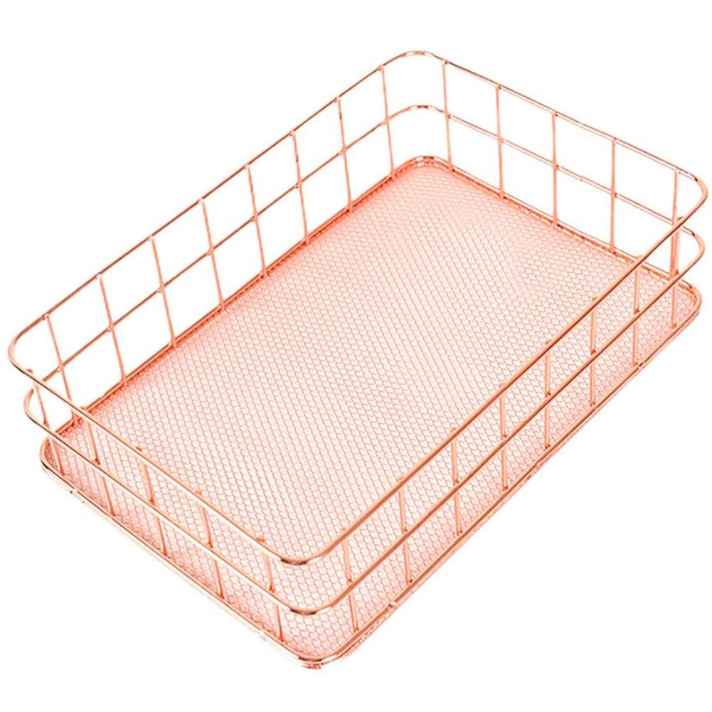 Office storage Basket Iron Art Nordic Storage Cup Dressing Desk Container Casket
