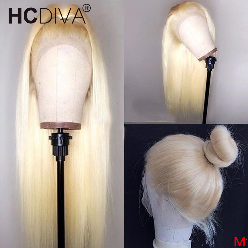 360 Lace Frontal Wig 613 Blonde Lace Front Wig Pre Plucked With Baby Hair 150% Brazilian Remy 613 Blond Human Hair Wig For Women