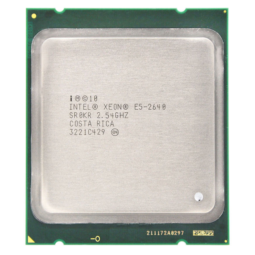 <font><b>Intel</b></font> <font><b>Xeon</b></font> E5-2640 E5 2640 Six Core 15M Cache/2.5/GHz/8.00 GT/s 95W LGA 2011 Sandy Bridge-EP AS 2650 <font><b>2660</b></font> CPU Free Shipping image