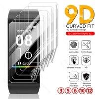 3-12PCS 9D Gebogene Weichen Hydrogel Film Für Xiaomi Mi Band4C Redmi Band 4C 4 C MiBand4C Smart armband Screen Protector Nicht Glas
