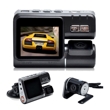 I1000 Dual Camera Car DVR HD 1080P Dash Cam with Rear View Camera Car Black Box DVR Dual Lens Camcorder image