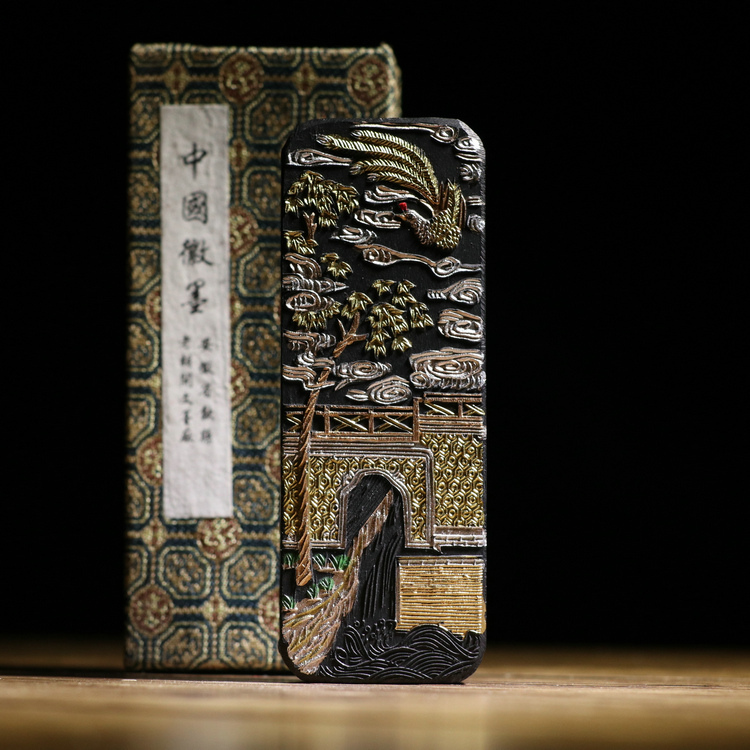 Chinese traditional Sumi-e ink sticks Solid ink Anhui Old Hukaiwen inkstick calligraphy ink Hui mo Gui Chang Ye Rui black color