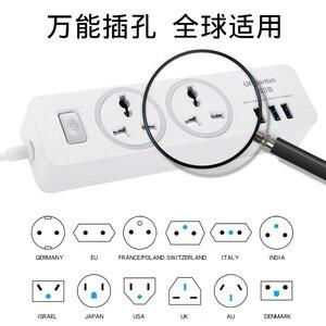 Image 4 - כוח רצועת שקע נייד רצועת תקע מתאם עם 3 יציאת USB רב תכליתי חכם בית אלקטרוניקה אוניברסלי שקע האיחוד האירופי בריטניה AU