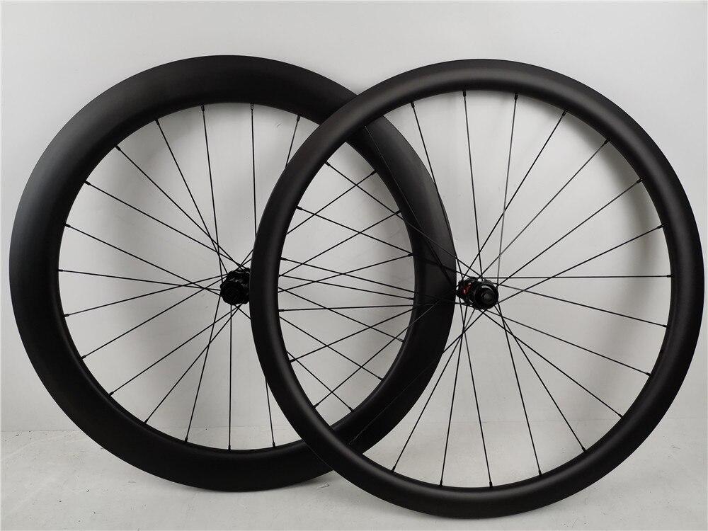 Haute qualité frein à disque carbone roues CLX 50 64 ROV-AL logo 700C route Tubeless compatible pneu carbone roues