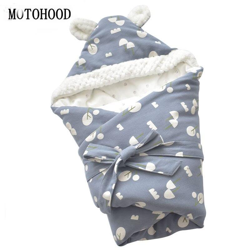 MOTOHOOD Winter Baby Blankets Newborn Swaddle Muslin Swaddle Baby Wrap Warm Baby Blanket Cotton Stroller Blankets