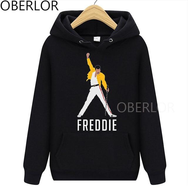 Freddie Mercury Hoodie Graphic Women Clothes 2020 Femme Hip Hop Rock Autumn Sweatshirts Tops Female Clothing Streetwear 1