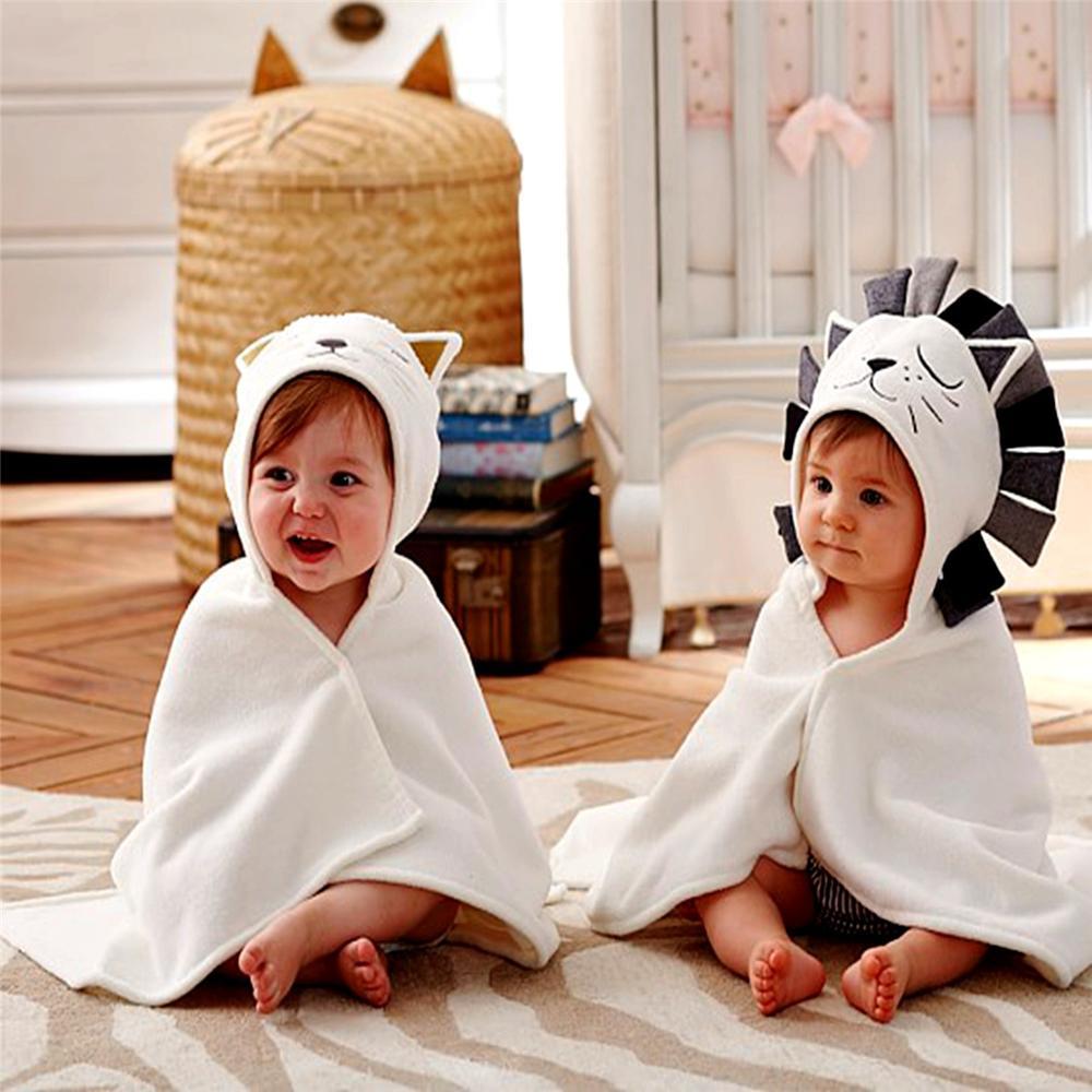 Newborn Baby Towel 100% Cotton Baby Bath Towel Babies Hooded Toalla Poncho Infant Beach Spa Blanket Cartoon Hood Towels