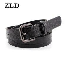 ZLD nuova cintura da donna moda all-match modello coccodrillo cinture vintage classiche Trend designer Jeans da donna cinturino decorativo