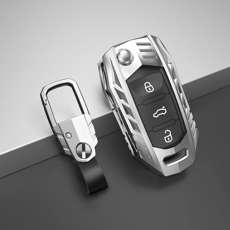Car Key Case Cover For Volkswagen VW Polo Tiguan Passat B5 B6 B7 Golf EOS 4 5 6 Scirocco Jetta MK4 MK6 Octavia Seat Accessories