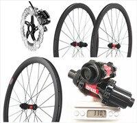 OEM ODM DT 240S Carbon Road rowerowy hamulec tarczowy bezdętkowy 38mm 45mm 50mm koła 25mm szerokości wyścigi drogowe koła 700c oś koła dysku w Koła roweru od Sport i rozrywka na