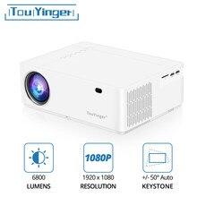 Touyinger m21 melhor 1080p led projetor de vídeo led completo hd 6800 lumens fhd 3d filme beamer usb vga projetores cinema em casa