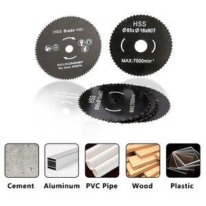 Image 2 - XCAN 1pc 85mm Nitride Coating HSS Circular Saw Blade Wood/Metal Cutter Wood Cutting Disc Saw Blade