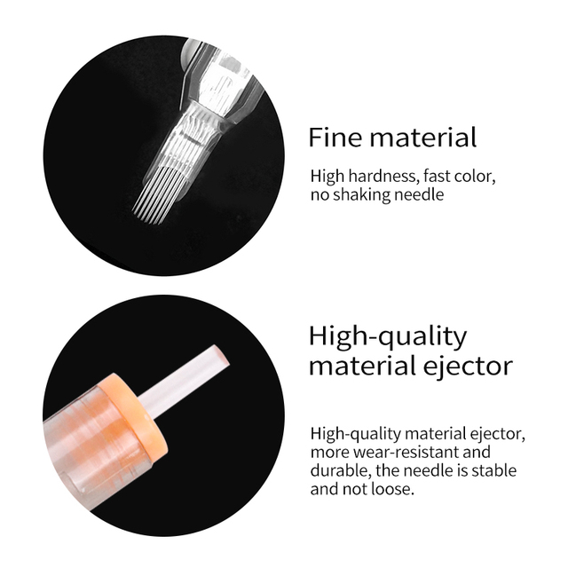 10 Pcs Revolution Cartridge Tattoo Needle Round Liner 0.35mm Long Taper RL/M1/RM Safety Membrance for Cartridge Machine and Grip 3