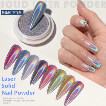 1 Box New Solid Electroplating Laser Nail Powder Magic Mirror Holographic Nail Art Nail Glitter Pigment Dust Manicure Decoration shinning glitter mirror powder tip diy nail art magic glimmer metal silver decoration