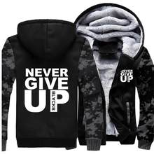Never Give UP Hoodies Men Letter พิมพ์'ll Never Walk Alone แจ็ค(China)