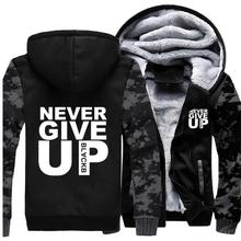 Never Give Up Hoodies Men Liverpool Mo Salah Youll Walk Alone Mens Jacket Autumn Winter 2019 Casual Military Thick Hoodie