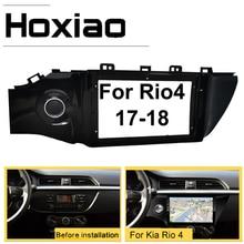 Hoxiao 9 Polegada 2din quadro do carro para kia rio 4 rio4 k2 2017 2018 2019 duplo din rádio do carro fascia estéreo dvd player painel com cabo