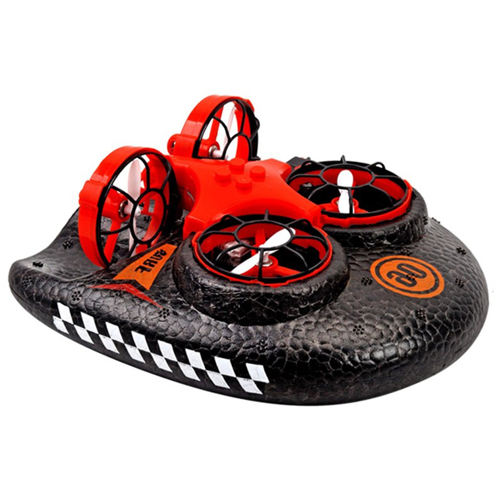 RC Quadcopters Water Land And Air Four-Axis Aircraft Hovercraft Three-in-one Multi-function Toy One-button Tumbling Mini Drone