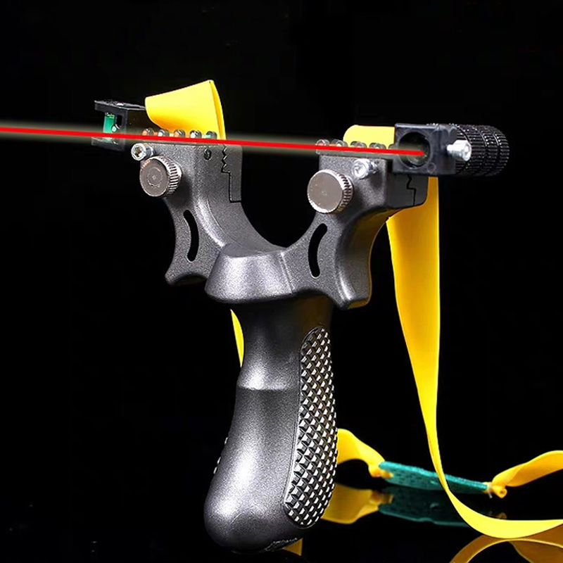 13 Piece Big Power Rubber Band Slingsho  Laser Light Aiming 98k Slingshot Flat Rubber Band Slingshot Hunting