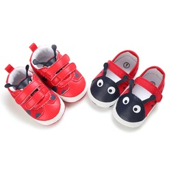 Spring Autumn Fashion Toddler Soft Soled PU Shoes Baby Boy Cute Crib Shoes Baby Boys Girls Patchwork Design Anti-Slip Sneakers