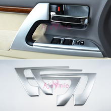 Chrome Car Styling Door Armrest Holder Handle Cover Trim 2008-2018 For Toyota Land Cruiser 200 Chrome Accessories 13 pieces chrome handle bowl mirror cover side lamp fuel tank cap 1998 2007 for toyota land cruiser 100 lexus lx470 accessories