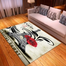 Retro dywaniki podłogowe francja wieża dywaniki Vintage budynki wycieraczka do łazienki wejście do kuchni dywaniki do dekoracji wnętrz dywan tanie tanio Nowoczesne Maszyna wykonana Rectangle Domu Hotel Bedroom Dekoracyjne Łazienka Kilim Pranie ręczne Mechanicznej wash Floor Mats