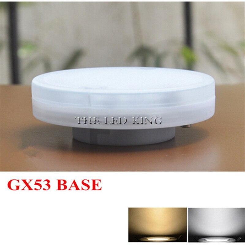1 шт./лот 5 Вт 7 Вт 9 Вт Светодиодная лампа GX53 лампа для шкафа AC 220 В 230 в 240 в теплый белый холодный белый SMD2835 Светодиодная лампа для гостиной
