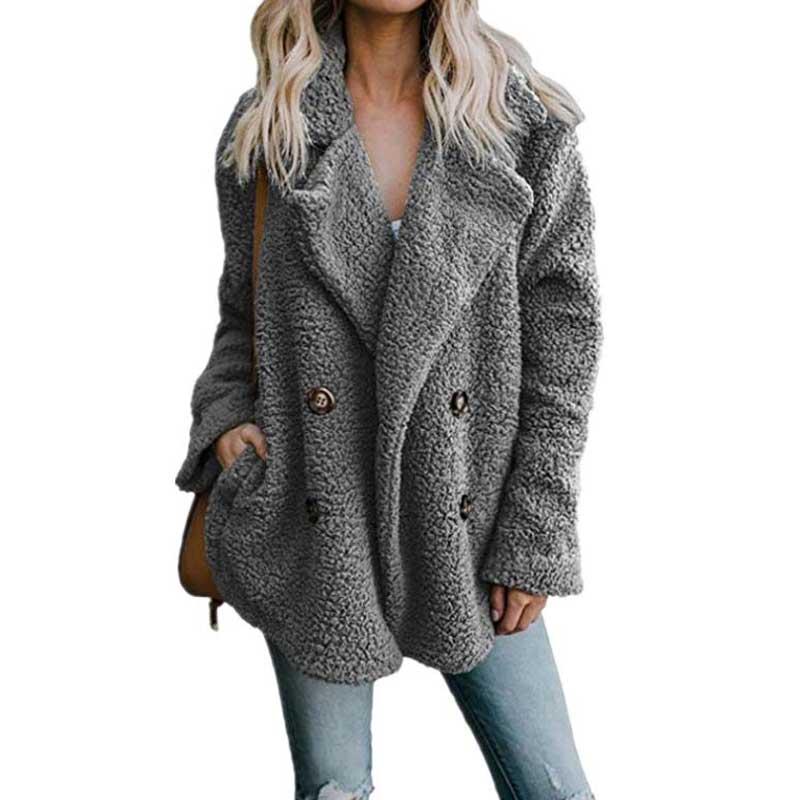 2019 Autumn Winter Teddy Bear Coat Women Plus Size Coat Thick Warm Winter Jacket Female Coat Long Sleeve Ladies Winter Coats