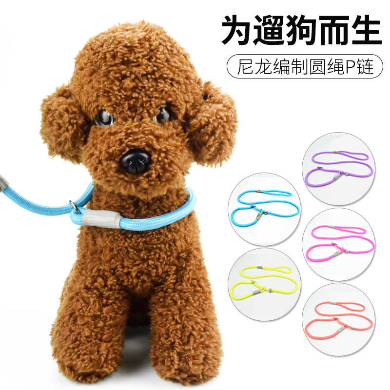P Pendant Pet Supplies Training Control Snake Chain Dog Rope Leash Wholesale Medium Large Dog Game Lanyard A Generation Of Fat