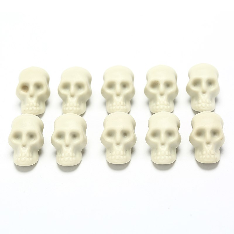 10pcs Simulation Human Skull Mini Skull Plastic Replica Halloween Home Decoration Decorative Craft