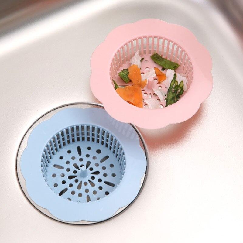 1pcs mesh sink strainer drain sink filter kitchen anti clogging plastic sink sewer stopper debris net bathtub hair strainer