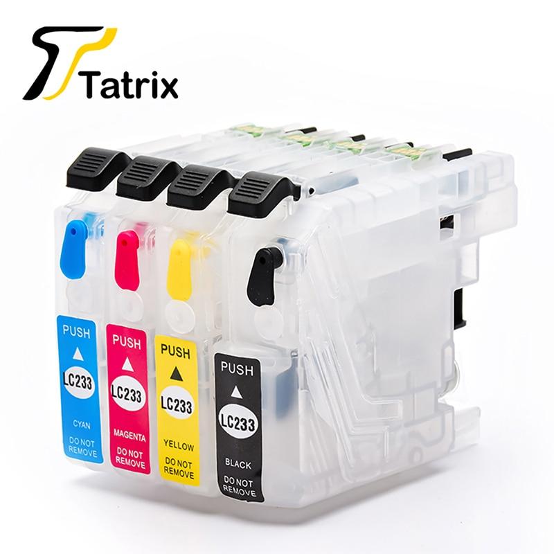 Tatrix LC233 многоразовый чернильный картридж для Brother MFC-J5720/J4120/J4620/J5320