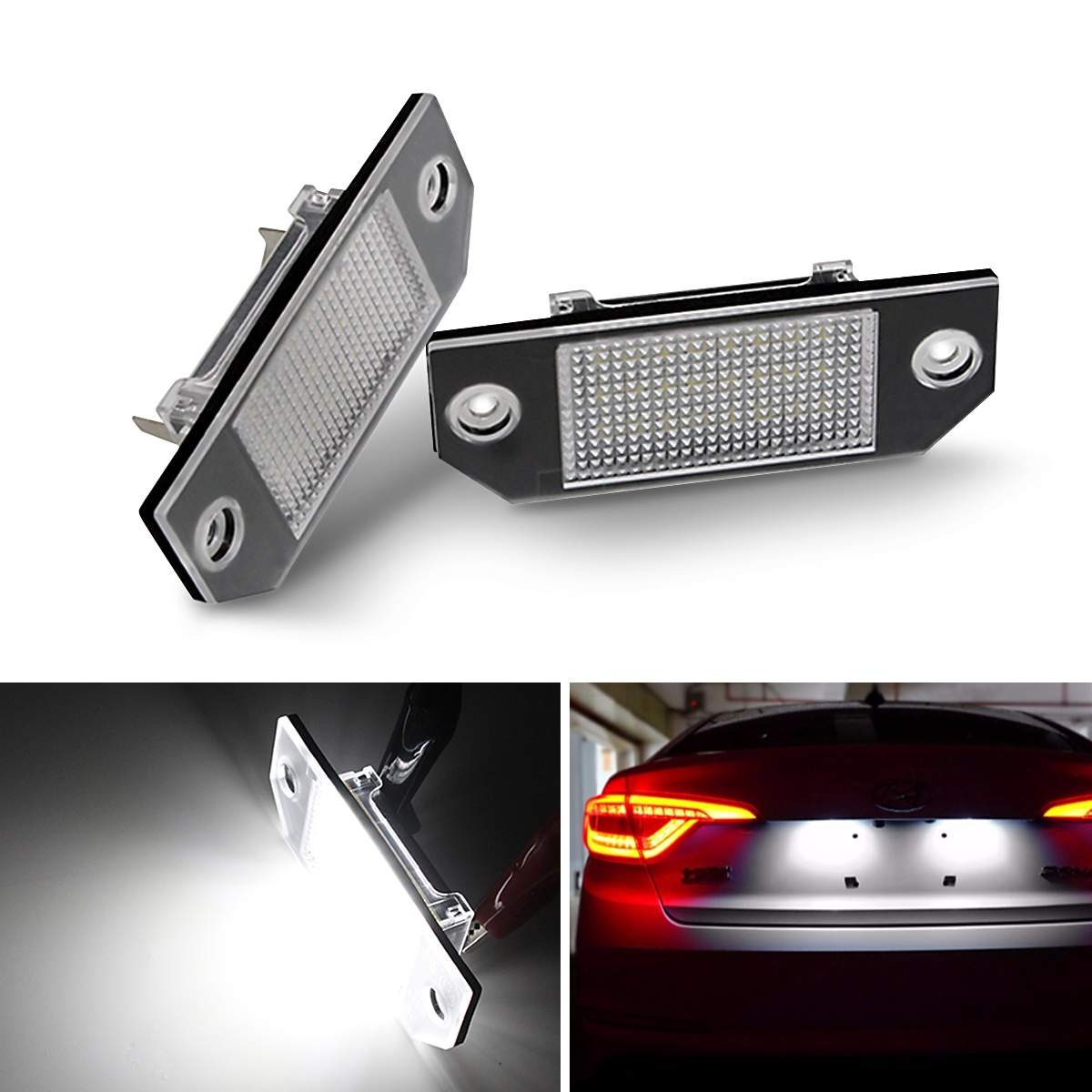 2X 24 LEDs Car Number License Plate Light  For Ford Focus 2 C-Max Ford Focus MK2 2003 2003 - 2019