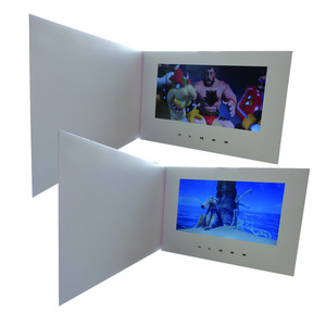 "Image 1 - Customization Smart 10"" LCD USB Smart Flip 1080P Color Screen LCD Video Photo Xmas Greeting Card Media Player"